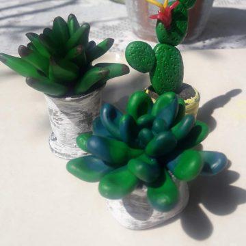 Arcilla polimérica - Cactus