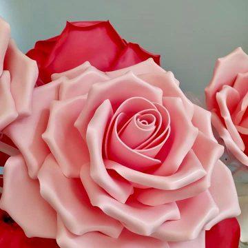 Arte Mix Media - Rosa