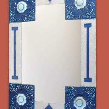 Pintura rocalla - Cuadro con espejo
